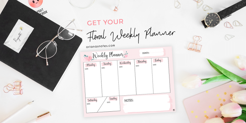 Get Your Free Weekly Planner !