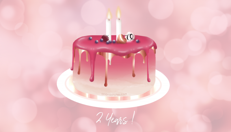 2 Year Blogiversary + What I learned in two years of blogging